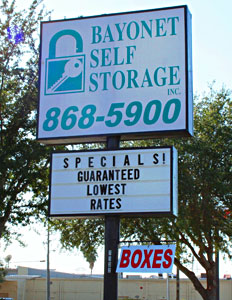 Bayonet Storage Sign